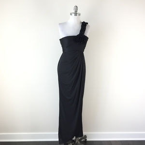 Adrianna Papell Xs 0 2 Black one Shoulder dress